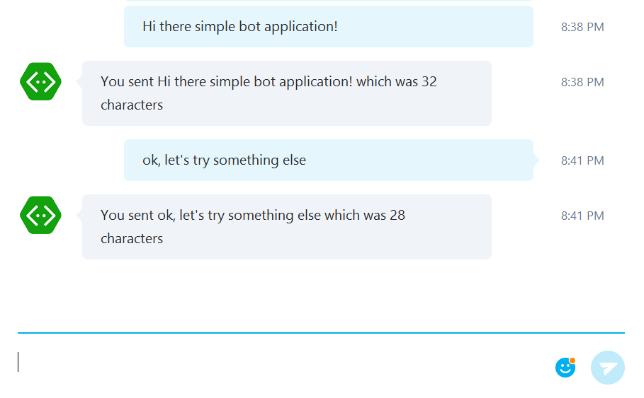 Test your bot in Skype!