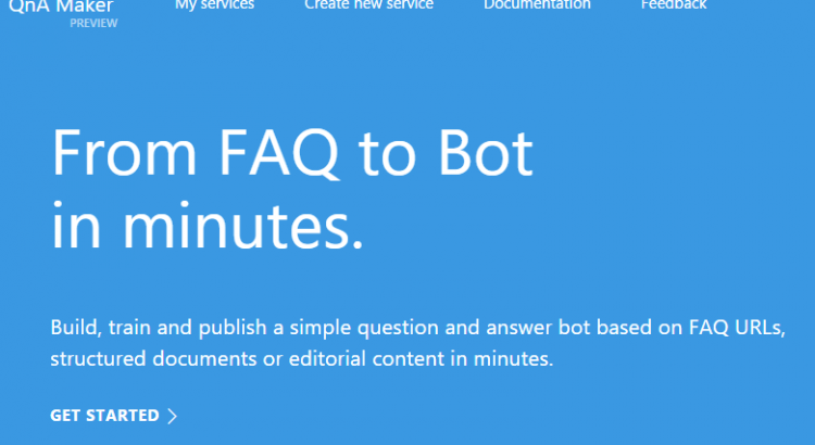 QnA Maker Dialog for Bot Framework – Gary Pretty